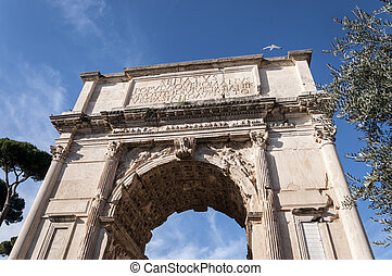 The Arch of Titus - Detail of The Arch of Titus It is a...