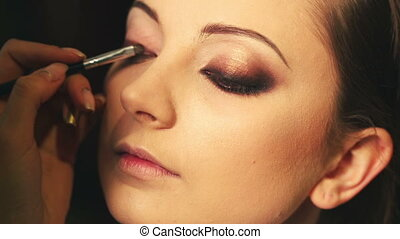 Makeup smokey eye - woman with a glamorous retro makeup