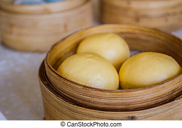 Steamed Egg Custard Bun. - Steamed Egg Custard Bun (Lau Sah...