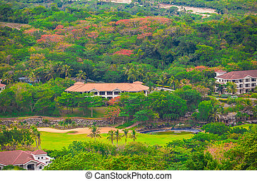 Philippine traditional village and hotel