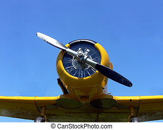 yellow old plane -  yellow world war two fighter plane