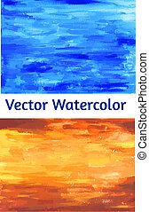 Vector set Watercolor textured papers