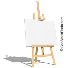 Easel and Canvas. - Side view of an Easel and Canvas. Hard...