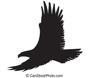eagle silhouette - eagle silhouette illustration