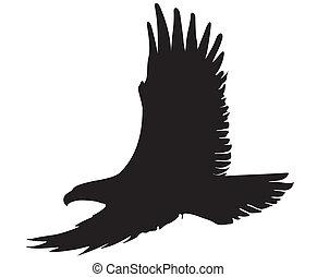 eagle silhouette - eagle silhouette illustration