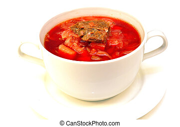 Russian-Ukrainian borscht soup - Traditional...