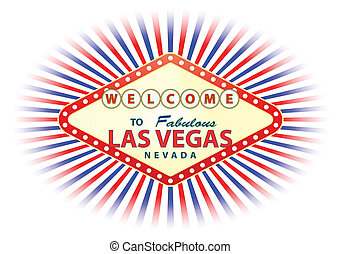 las vegas - illustration of las vegas signal with cloud and...
