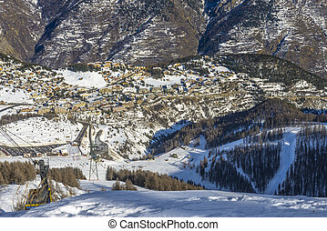Skiing Resort in Auron, French Alps - View from French Alps...