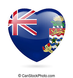 Heart icon of Cayman Islands - I love Cayman Islands. Heart...
