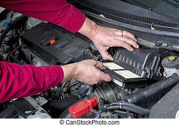 Automobile filter replacement