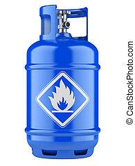 propano, cilindros, comprimido, gas