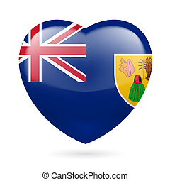 Heart icon of Turks and Caicos Islands - I love Turks and...