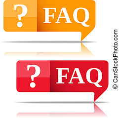 FAQ Speech bubbles, vector eps10 illustration