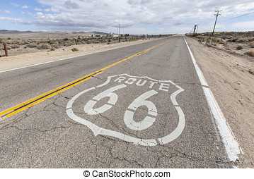 Route 66 - Historic US Route 66 through California's arid...