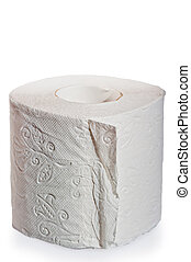 multilayer soft toilet paper close up