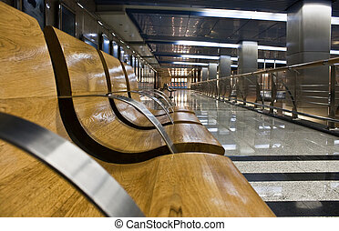 modern subway station hall - photo of the modern subway...