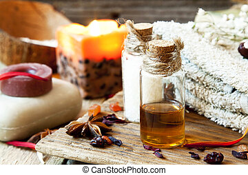 Essential Oils Aromatherapy.Spa Setting