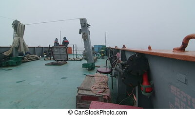 Aft deck of commercial fishing boat