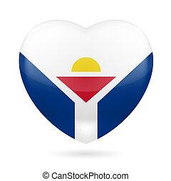 Heart icon of Saint Martin - I love Saint Martin. Heart with...
