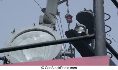 Radar on the wheelhouse