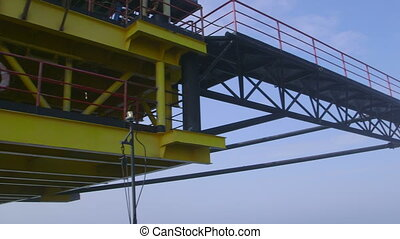 Fixed gas production offshore platform in the East-Kazantip...