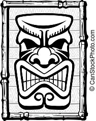 Tiki Also - Illustrated Tiki. Layered vector and high...