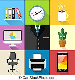 Business suit set - Business suits web design elements with...