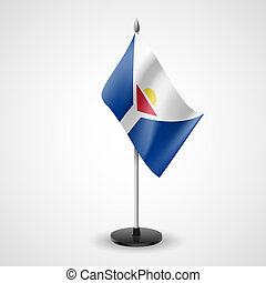 Table flag of Saint Martin