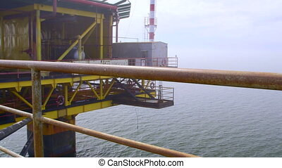 Offshore gas production platform processing equipment in the...