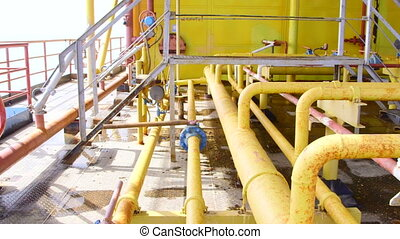 Offshore gas and oil production platform processing system...