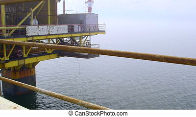 Offshore gas production platform in the East-Kazantip field...