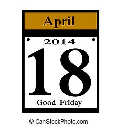 Good Friday date icon
