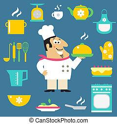 Chef, artículos, restaurante, cocina