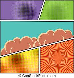 Comic speech bubble blank - Comics pop art style blank...