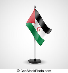 Table flag of Sahrawi Arab Democratic Republic - State table...