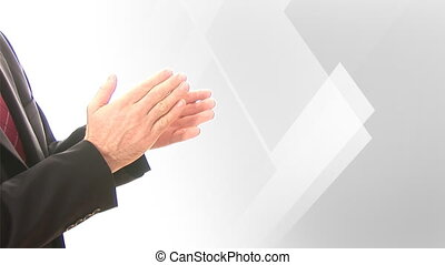 Stock Footage of Man congratulating