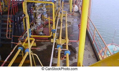 Offshore gas production platform facilities