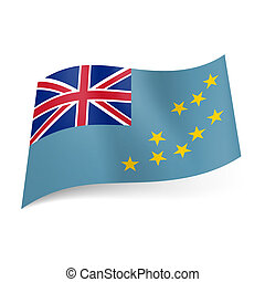 State flag of Tuvalu - National flag of Tuvalu. British flag...