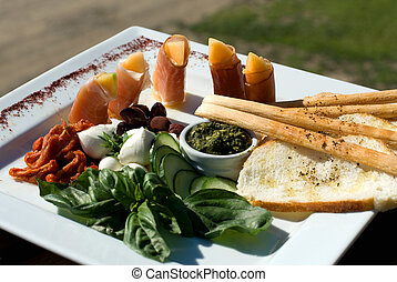 Antipasto Platter - An Antipasto platter containing...