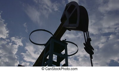 Oil extraction by pumpjack