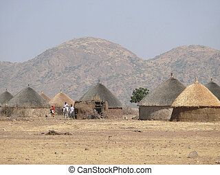 Village in the south of Sudan - Sudan, Africa - November 22,...