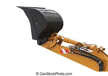 Digger excavator isolated on white background - Digger...