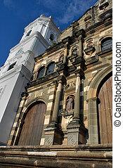 Cathedral in Panama city (Senora de la Asuncion) - wide...