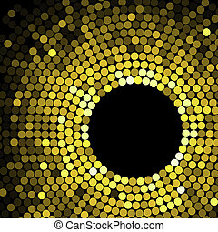Geometric pattern of gold circles or dots - Abstract...