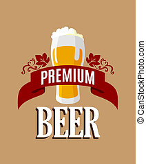 Lager beer banner or template for brewery industry or...