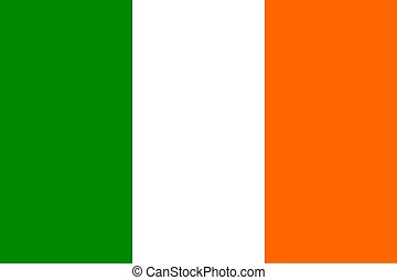 Flag of Ireland - Official flag of Ireland nation