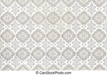 Seamless floral pattern - Silver and seamless floral pattern