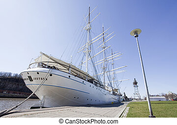 An Old Sailing Ship - An old sailing ship Suomen Joutsen has...