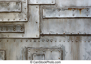 metal background - structure of old metal with screw