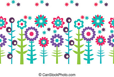 Flowers seamless pattern background